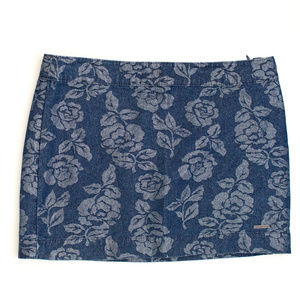 Abercrombie & Fitch Metallic Rose Denim Skirt 6